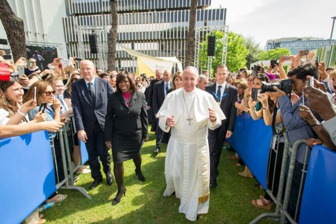 Rome, Italy, WFP-HQ, 13 June 2016  Official visit of His Holiness Pope Francis  Photo: WFP/Giulio d'Adamo