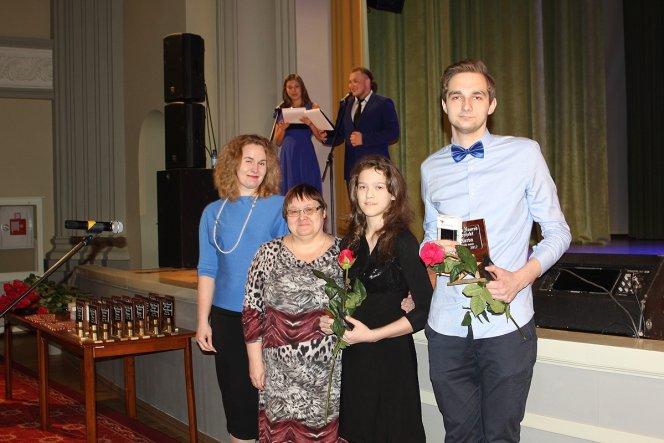 награждение Даниила Ширяева - номинация Молодой года города Нарва , 7-15 лет